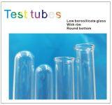 12*350mm de Reageerbuis van het Glas Met Rand en Ronde Bodem
