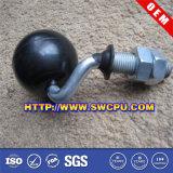 Kundenspezifische Fußrolle Furtniture Soem-roter pp. Plastik (SWCPU-P-W074)