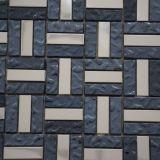Venta caliente de cristal de cerámica de metal pulido mosaico azulejos de la pared