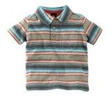 Boy's Stripe Polo T-shirt col de l'usure Tee Kid's BT21