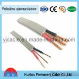 Completamente cable aislado PVC del gemelo y de tierra