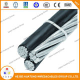 ABC cable conductor de aluminio con aislamiento XLPE Cable ABC, Overhead aérea Manojo del cable, Douplex / Triple / Quadruplex Servicio cable de bajada ABC Cable, Urd cable, cable Ud