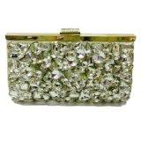 金の女性ハンドバッグの水晶方法Eveningbag
