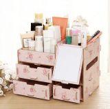 Cadre de mémoire de bureau en bois multifonctionnel créateur de DIY, cadre cosmétique en bois