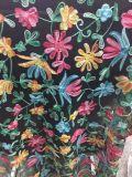 Ткань шнурка цветка вышивки высокого качества для одежды