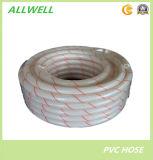 Plástico PVC claro transparente de agua de la manguera hidráulica fibra trenzada manguera de jardín de tuberías