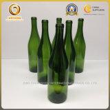 高品質のバーガンディ750ml 26ozのコルク(488)が付いているフランスの緑か旧式な緑ガラスのワイン・ボトル