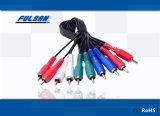 Высокое качество позолоченные разъемы кабеля RCA 5 RCA на 5 кабель RCA M/M