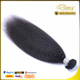 Noir naturel des cheveux humains de la trame de tissage vierge brésilien hair extension