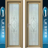 Un style moderne Swingdoors en aluminium avec miroir motif de fleurs