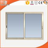 Les portes coulissantes horizontales en aluminium parfait pour la villa et balcon, du grain du bois d'aluminium portes coulissantes en verre vertical