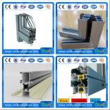 Profils en aluminium de anodisation de couleur grise, 6063 profils en aluminium d'alliage, profils en aluminium d'extrusion