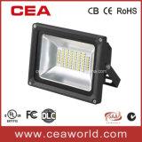 30W米国の市場のための黒いハウジングSMD LEDの洪水ライト