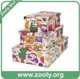 Papel multiuso Caixa de armazenamento dobrável / Caixa de papel dobrável com canto de metal