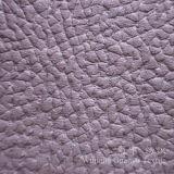 Tissu de cuir gravé en relief de suède de polyester pour le sofa