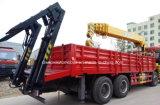 8X4 12車輪望遠鏡クレーントラックは販売のためのクレーン16トンのと取付けた