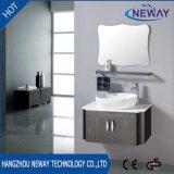 Новой установленный стеной стальной шкаф Washbasin ванной комнаты с зеркалом