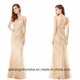 Вечернее платье женщины элегантный круглой горловины сарафан длинный производителей одежды