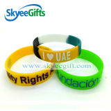 Fördernder Geschenk-Zoll vertieftes Farben-Fülle-Silikon-Armband