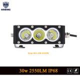5.9In superpotencia de la barra de luz LED con chips cree Offroad 30W de la barra de luz de trabajo para el Jeep Ford SUV Audi ATV Spot Haz inundaciones