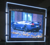 Slim LED Light Box com acrílico LED Light Panel e Crystal Light Pocket