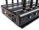 고성능 12 안테나는 조정가능한 3G 4G 전부 이동 전화 방해기 WiFi GPS VHF UHF Lojack RF 신호 차단제를 신호한다