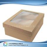 KlimaPACKPAPIER-faltbarer verpackenkasten für Nahrungsmittelkuchen (xc-fbk-025A)