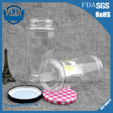 Качество еды прозрачное, цилиндрический, широкий опарник 690 Ml стекла хранения чонсервных банк кофеего рта