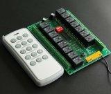 Receptor de 16 canaletas e jogo de controle remoto para 433/315MHz