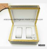 Caixa de relógio luxuosa de madeira natural do pacote da caixa de presente da jóia