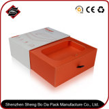 Подгонянная коробка упаковки бумаги подарка квадрата логоса