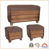 3-PC Accent Storage Bench Otoman Chest for Living Room and Bedroom