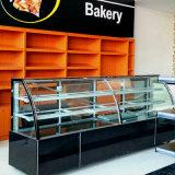 لون سوداء يحنى زجاجيّة باب قالب عرض مبرّد لأنّ مخبز متجر