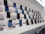 Antirrobo de plástico ABS de soporte de la pantalla del teléfono móvil de goma