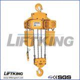 Élévateur à chaînes électrique suspendu par crochet pour la grue