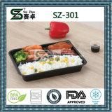3 Fach PS-Wegwerfnahrungsmittelbehälter mit Abdeckung-Kappe