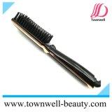 Plancha de pelo cepillo de peine de hierro con pantalla LCD