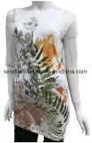 プリントを持つ女性のための裸の肩のTシャツ
