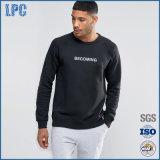 Moda 100% Algodão Crewneck Custom Mens Sweatshirt