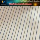 Bens alertas baratos da tela do forro da listra do poliéster para a tela do terno das mulheres (S123.129)