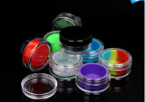 Vasi acrilici di plastica del contenitore dell'inserto del silicone con volume 5ml