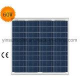 ISOの承認(YSP60-12P)の60W太陽電池パネル