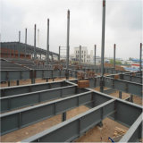 Almacén ligero prefabricado del metal de la estructura de acero vertido con el espacio grande