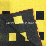 Черная ткань шерстей проверки для шинели