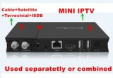 Récepteur satellite duel du combo DVB de SYSTÈME D'EXPLOITATION