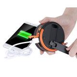 USB 충전기 옥외 야영을%s 다채로운 태양 LED 손전등 빛