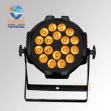RoHS Bescheinigung für 18*15W 5in1 Rgbaw fantastisches Helligkeit LED NENNWERT Wäsche-Licht mit Powercon für Disco-Partei-Ereignis