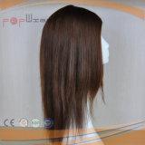 中国の人間の毛髪の医学のかつらの工場、バージンのRemyの毛の触れられていないブラウンカラー絹の上の女性のかつら