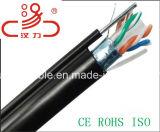 Câble extérieur de transmission de câble de message de Ftpcat6 +1.3steel/de caractéristiques câble d'ordinateur