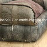 OEM di lusso dell'assestamento del sofà della base dell'animale domestico del rifornimento di cuoio dell'animale domestico del Pentagon